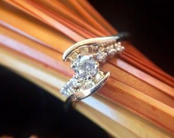 14K Gold Vintage Diamond Engagement Ring (st - 1258)