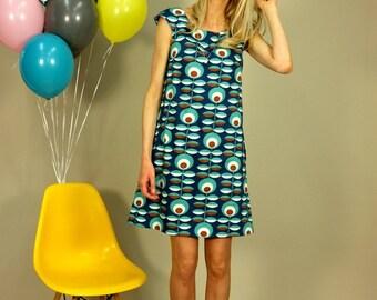 "A line dress ""REIKJA BLUE"""