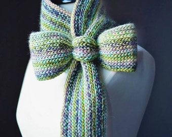 "Crochet Pattern: ""Knit-Look"" Bow Tie Cowl / Scarf **Permission to sell finished items"