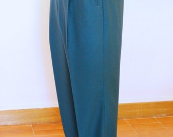 Any colour 50s High-waisted Men's Slacks Toni Style with Turn-ups, made to measure