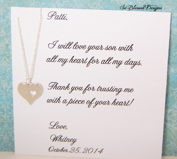 Mother of the GROOM, Mother in law wedding gift, wedding necklace ...