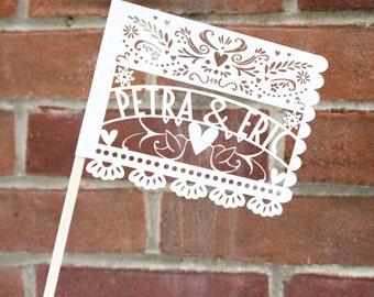 Laser-Cut Papercutting Artwork - CUSTOM Papel Picado Paper Mexican Wedding Flag
