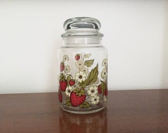 Glass Strawberry Jar