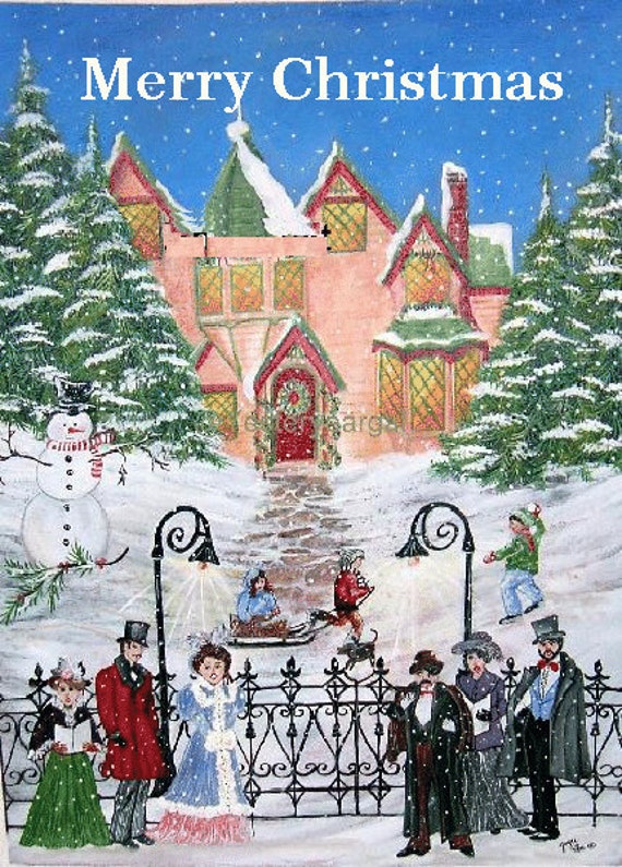Christmas Cards     From My Painting Victorian Christmas