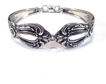 Vintage Silver Spoon Bracelet - Circa 1968 - Silverware Jewelry