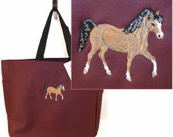 Arabian Horse Tote Bag Prancing Farm Animal Essential Style