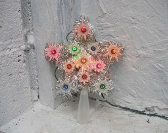 mini christmas star tree topper 11 lights lighted star colorful decoration single flasher. Black Bedroom Furniture Sets. Home Design Ideas