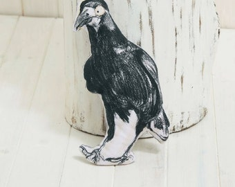 Vincent The Small Cotton Crow Cushion