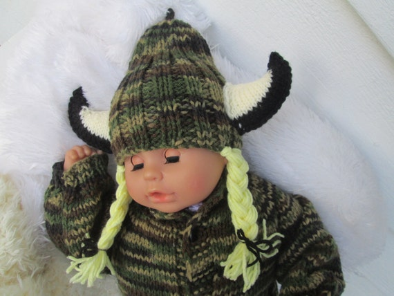 Knitted Viking nb Viking Baby Viking Hat Knit