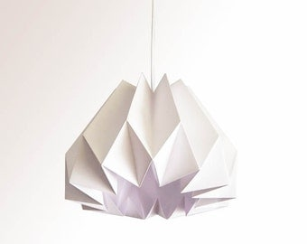 Pumpkin / Origami Paper Lamp Shade - White