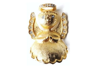 Vintage L Razza Signed Angel On My Shoulder Pin