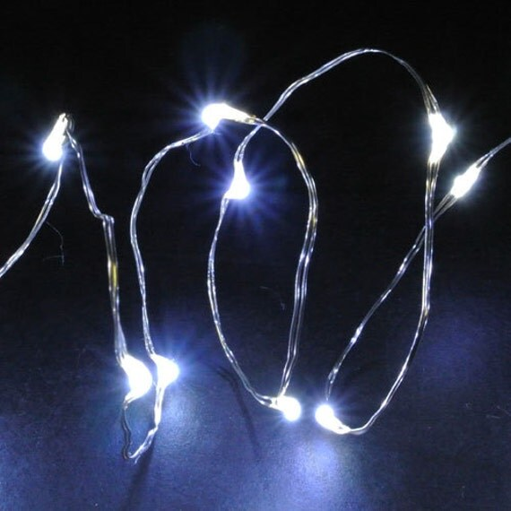 Micro LED StringWire Fairy Lights Battery by FliesintheButtermilk