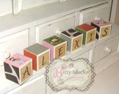 Baby Girl Cocalo Jacana Jungle Wooden Name Blocks- Jungle Nursery- Baby Name Blocks- Custom Name Decor Letters