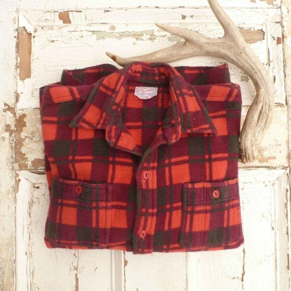 Red Black Plaid Shirt Men