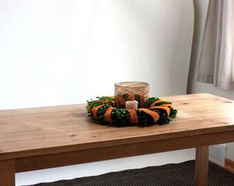 Farmhouse Parsons Dining Table  //  Reclaimed Wood Table