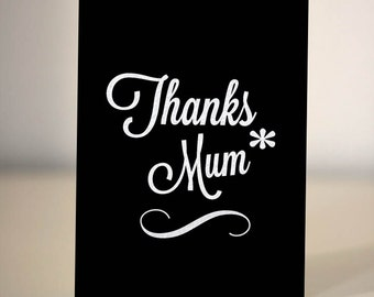 Mother's Day card - thank you Mum/Mom