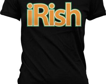 iRish. Ireland. Irish Pride. Celtic. Eire. Gaelic. St. Patrick's Day.  Inexpensive & Funny Junior and Women's Tshirts_GH_01437