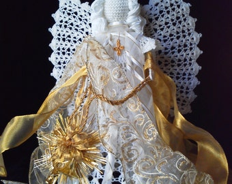 Crocheted Angel. Holiday angel, Angels, Crafts