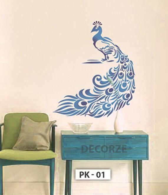 Stencil pavone per muro disegni di pavone personalizza di decorze