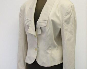 80s cotton jacket beige size 44