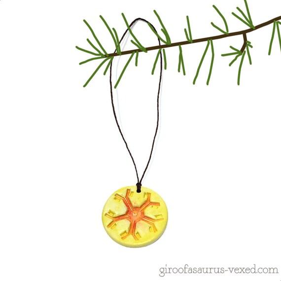 Christmas ornament, Immunoglobulin M antibody, pottery holiday ornament for scientists