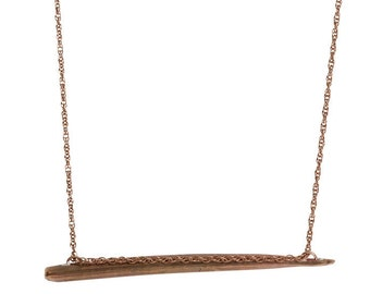 Thick Lateral African Porcupine Quill Necklace