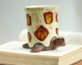 Ceramic Mug - Ceramic Turtle Mug  - Coffe and Tea Mug - Handmade Ceramic Mug