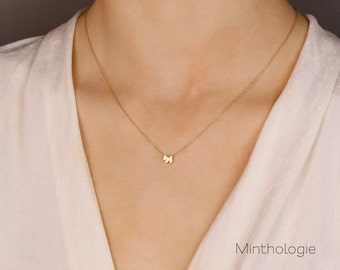 Dog Necklace N17 • Puppy Necklace, Tiny Dog Necklace, Dainty Necklace, Gold Necklace, Gold Dog Necklace, Pet Necklace