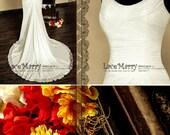 Elegant Chiffon Wedding Dress, Scoop Neckline Dresses, Chiffon Wedding Dresses, Boho Wedding Dress, Beach Wedding, Summer Wedding, Bohemian