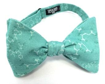 Robins Egg Blue Love Oxytocin Molecule Bow Tie - bowtie, bow ties, bowties, geek, geeky chic, mens, science, self tie, pretied, scientist