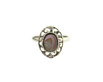Abalone Ring with Adjustable Band
