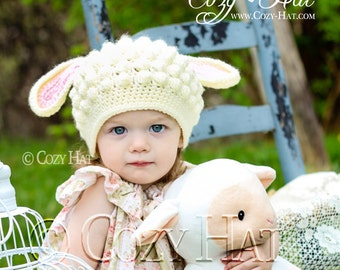 Sweet Lamb Sheep Hat. Made to Order.