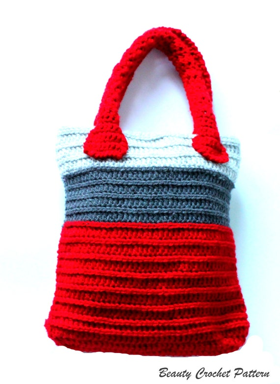 Crochet Bag Pattern, Crochet Tote Bag Pattern, Crochet Market Bag ...
