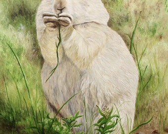 Prairie Dog wildlife animal Original Oil Painting 12in x 16in