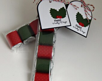 Christmas Candy Nugget Party Favors~ Happy Holly Days