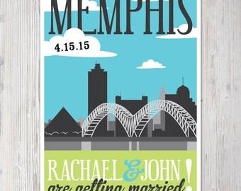 Printable Save the Date Card/Postcard - Memphis, TN Theme