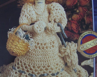 "Small 7"" Victorian Ladies Crochet Patterns Victorian Doll Design Tabletop Crochet"
