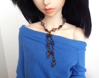 BJD jewelry - Doll necklace prurple