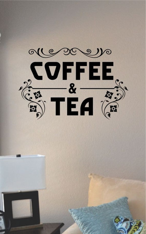 Slap art coffee tea vinyl wall art decal by for Tea and coffee wall art