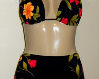 Double String Halter Top and Pin Up Bottom