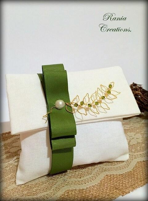 Wedding favor.Linen Favor gift bag.Linen gift bag.Linen