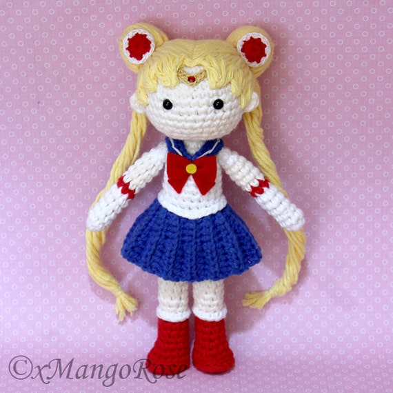 Amigurumi Moon Pattern : Sailor Moon Plush Amigurumi Doll Crochet Pattern Only