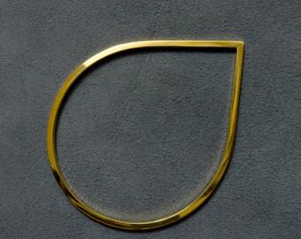 Gold Bangle // Pear Bangle // Pear Gold Bangle // Tear Bangle // Geometric Bangle // Minimal Bangle // Gift For Her // Gold Jewelry