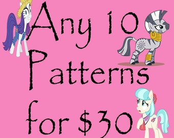 40% OFF ANY 10 CROCHET Patterns