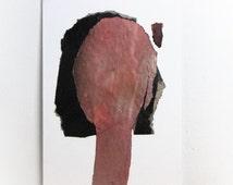Abstract Art Original Painting, Woman Portrait, Female Modern Art Canvas, 8x12