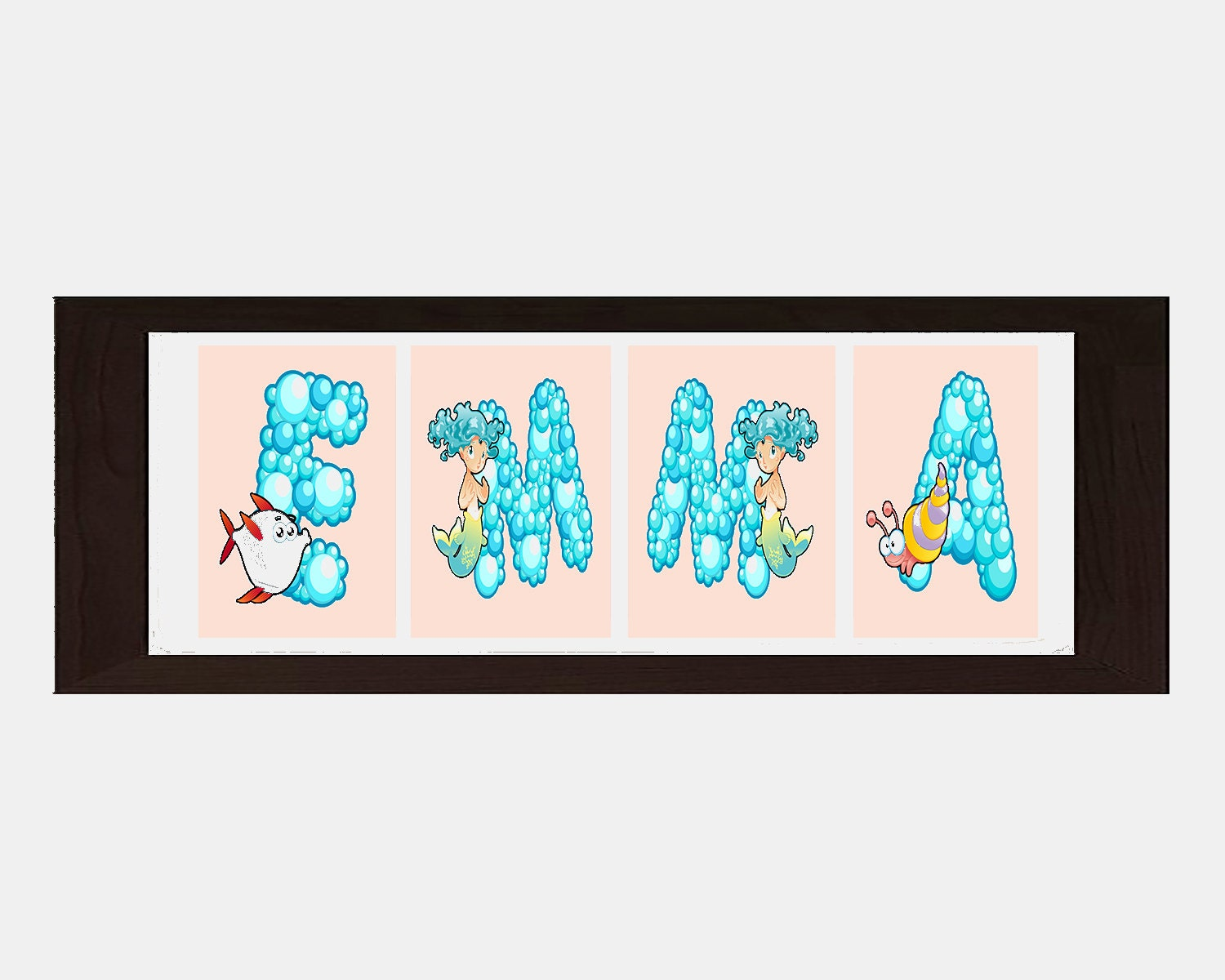 Sea Life Wall Decor Sea Life Wall Art Personalized Name For