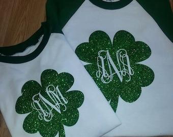 Shamrock Glitter Baseball shirts!