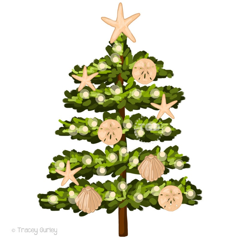 Beach Christmas Tree Clip Art holiday clip art holiday