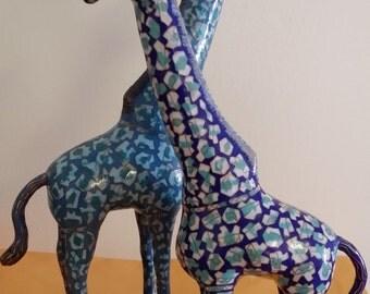 Cloisonne Giraffe - Vintage Chinese Cloisonné Hand Made Giraffe on Wooden Stand