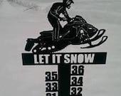 Snowmobile Snow Meter